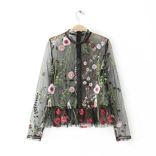 Изображение блуза из сетки ZARA