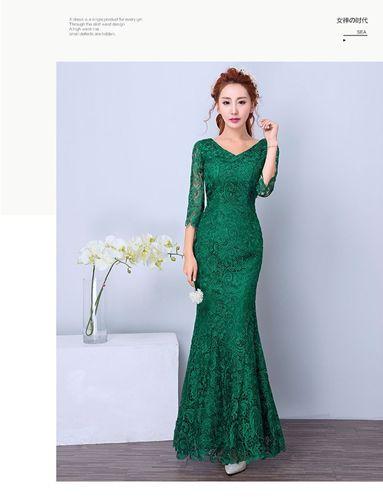 Изображение вечернее платье из кружева
